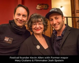 Kevin Allen, Mary Giuliano and Josh Epstein at the Vogue Theatre